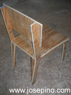 Homemade Plywood chair